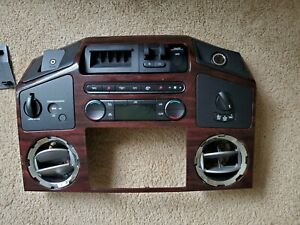 2008 2010 Ford F250 F350 Super Duty Radio Dash Trim Bezel Vents Wood Grain