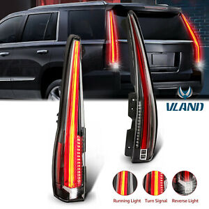 2x Led Tail Lights For 2007 2014 Cadillac Escalade esv Red Rear Lamp 2016 Style