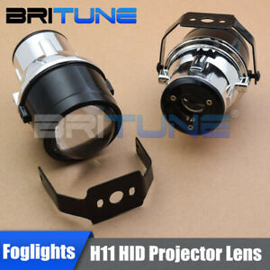 Hid Xenon Projector Lens Driving Lamps Fog Lights Universal Round Low Beam H11