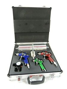 3 Pc Automotive Hvlp Air Spray Gun Kit