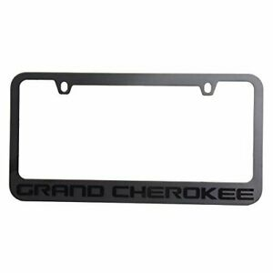 Mopar Licensed Jeep Grand Cherokee License Plate Frame Black On Black