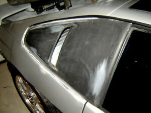 84 88 Pontiac Fiero Showcars Side Window Scoops Fastback Only