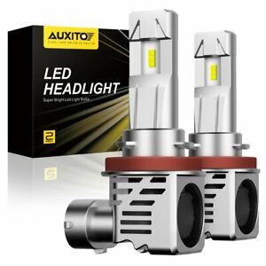 Auxito H11 H8 Led Headlight Kit Low Beam Bulbs 120w Super Bright 6500k 24000lm
