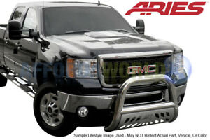 09 17 Dodge Ram 1500 Aries Offroad Stainless Big Horn 4in Bull Bar Skid Plate