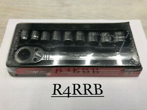 New Snap on Tools 3 8 Drive 12pt Metric Low Profile Ratchet socket Set 210rafma
