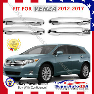 Door Handle Cover Fit For Toyota Venza 2009 2012 Mirror Chrome Molding Abs Trim