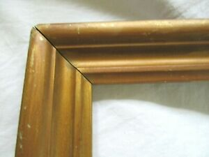 Antique Fits 10x 14 Gold Gilt Picture Frame Wood Gesso Fine Art Country