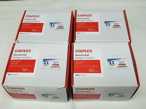 Staples Horizontal Id Badge Holders Horizontal 4 Brand New Boxes Of 50 Each