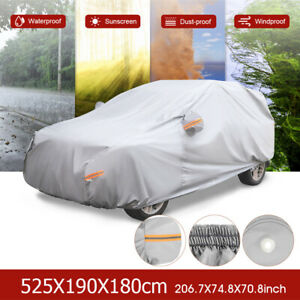 Xl Heavy Duty Car Cover Waterproof Sun Uv Snow Dust Resistant Protection For Suv