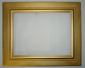 1950 S Gold 16 X 12 Wood Carved Picture Frame