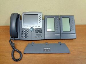 Used Cisco Cp 7975g Voip Ip Office Phone W Expansion Module 7914