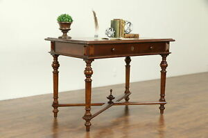 Walnut Cherry Antique Austrian Library Table Or Desk 31739