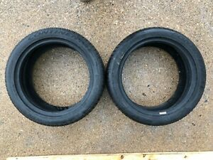 2 Used Tire Continental Extremecontact Dws06 225 45zr17 91w 2pcs