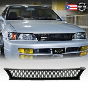 For 1993 1997 Toyota Corolla Dx Abs Front Bumper Upper Hood Grille Black Mesh