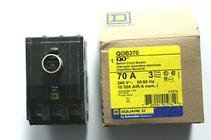 Square D Qob370 70 A 3 Pole 240 Vac Bolt on Circuit Breaker New In Box