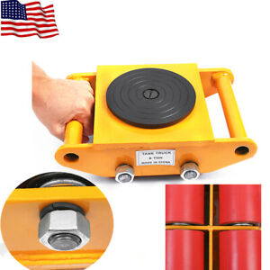 Machinery Mover Heavy Machine Dolly Equipment Roller Skates 360 Rotation 6t