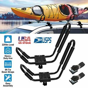 Universal J bar Kayak Carrier Heavy Duty Canoe Car Top Mount Carrier Roof Rack