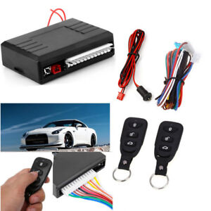 Car Control Central Door Lock Locking Remote 2pc Key Entry System Electronic Kit