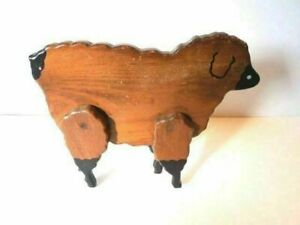 Antique Wood Sheep 1900 S Childs Toy This Is Very Very Nice