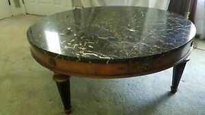Antique Paine Furniture Italian Marble Cocktail Table