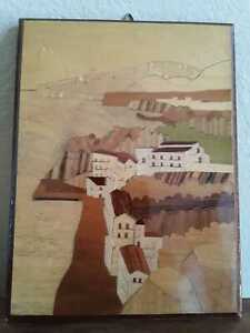 Sorrento Italy Inlaid Wood Marquetry Art Picture Hand Made