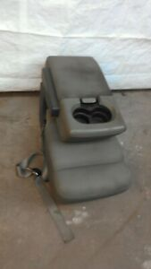 2004 2008 Ford F150 Grey Cloth Front Center Console Jump Seat Cupho