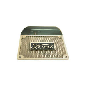 Model T Ford Running Board Step Plate Highly Polished Brass Ford Script