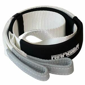 Tree Saver Strap For Tow Winch Recovery Heavy Duty With Reinforced Loops