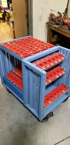 Lista Cat 40 Cnc Tool Cart Rack On Large Casters 84 Tools Very Good Cond