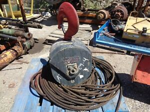 Crane Hook Block 2 sheave with Wire Cap 40 000 Lbs