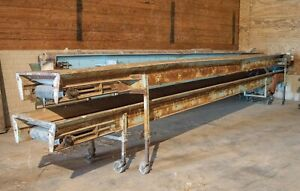 Haines Potato Produce Stacking Conveyor Belt 24 Long 16 Wide