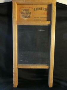 Vintage The Glass King Lingerie Wood Washboard National Washboard Co