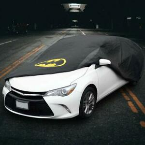 Batman Car Cover Black Waterproof All Weather Protection For Auto Outdoor