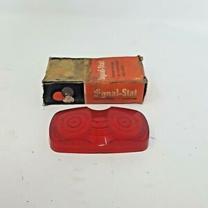Vintage Signal Stat Indicator Light Lens Only W Box Nos