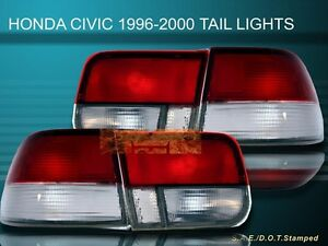 Fit For 96 97 99 00 Honda Civic Lx ex si 2d 2dr Oem Tail Lights