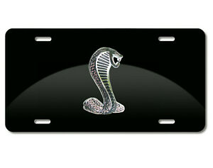 Aluminum Marque Black License Plate Chrome Snake Badge emblem With Screw Covers