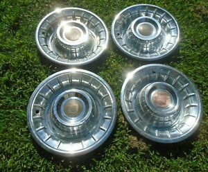 4 Vintage 1956 Cadillac Sombrero Wheel Covers Hub Caps Rat Rod