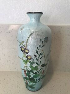Antique Japanese Cloisonne Vase 7 Inches Tall