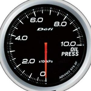 Defi Advance Bf White 60mm Oil Pressure Gauge metric Defidf10201