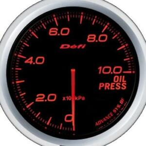 Defi Advance Bf Red 60mm Oil Pressure Gauge metric Defidf10202