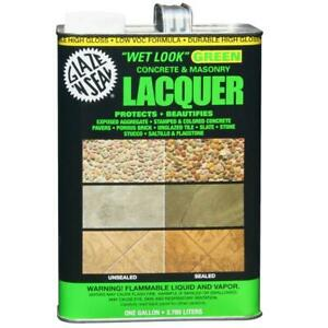 Concrete And Masonry Lacquer Wet Look Sealer 1 Gal Clear Green Stain Protector