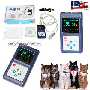 Handheld Veterinary Pulse Oximeter Spo2 Pr Monitor Vet Tongue Probe usb Software