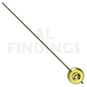 32mm French Clock Pendulum Bob Brass With Steel Rod Regulating Nut Clockmakers