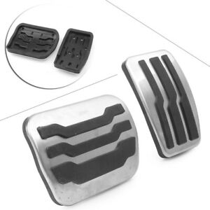 Non Slip Gas Brake Foot Pedal Pad Cover Fit Ford F150 2011 2014 Aluminum Car