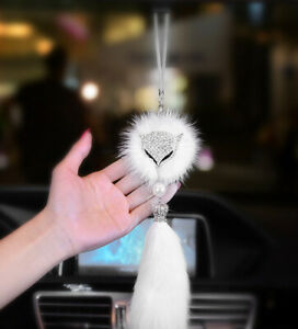 Car Rearview Mirror Pendant Fox Lucky Auto Hanging Ornament Decoration