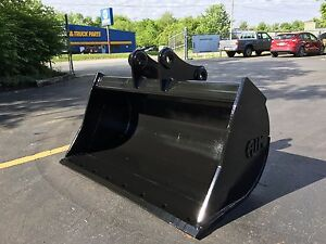 New 48 Yanmar Vio80 Ditch Cleaning Bucket With Coupler Pins