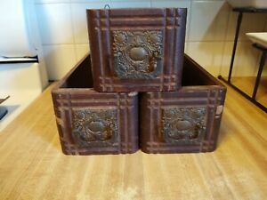 3 Antique Treadle Sewing Machine Wood Drawers Cabinet Drawers