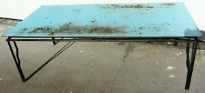 Cool Mid Century Modern Vintage Coffee Table Wrought Iron Signed Designer Mcm
