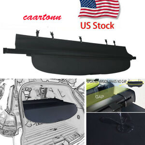 Retractable Rear Trunk Shade Security Cargo Cover For 2014 2020 Nissan Rogue Blk