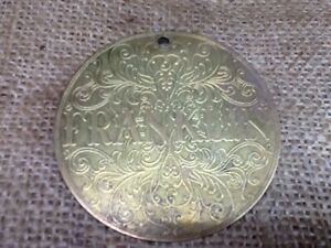 Vintage Franklin Treadle Sewing Machine Brass Faceplate Cover